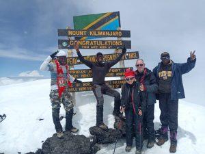 Dale top of Kilimanjaro Dec 2019
