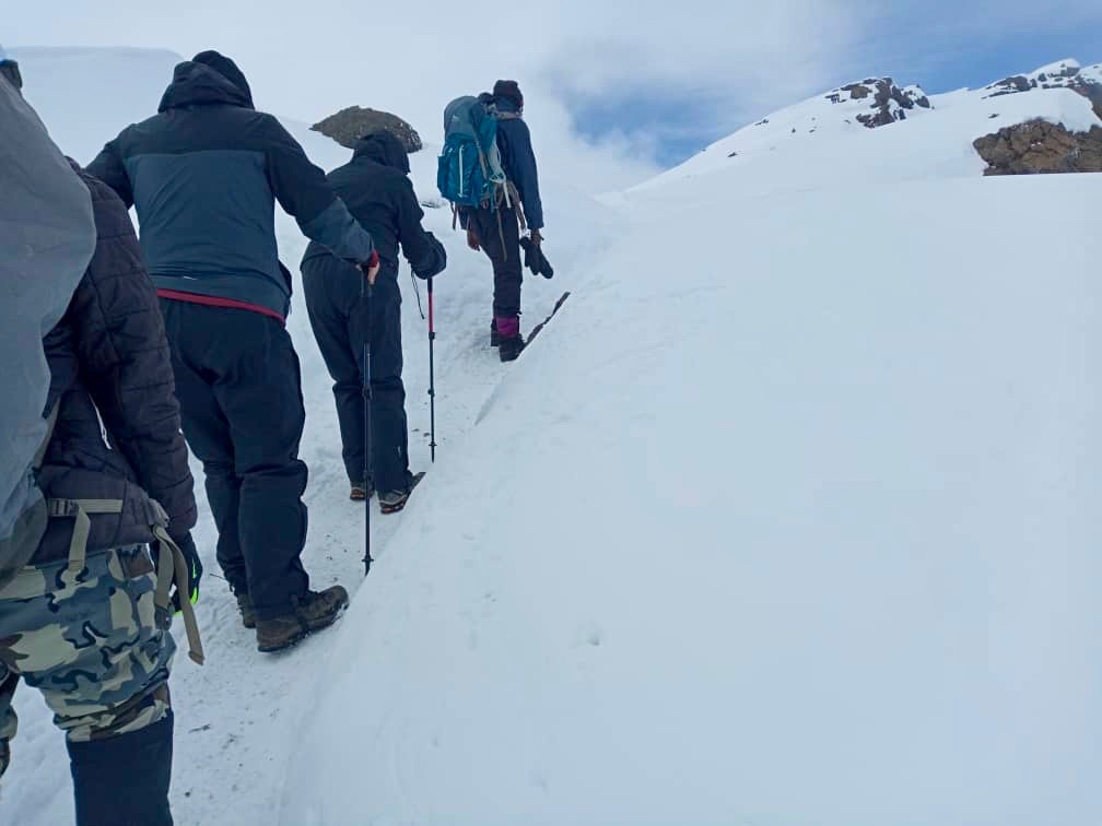On our way to the summit