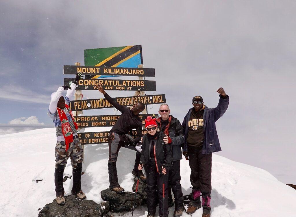 At the top of KILI