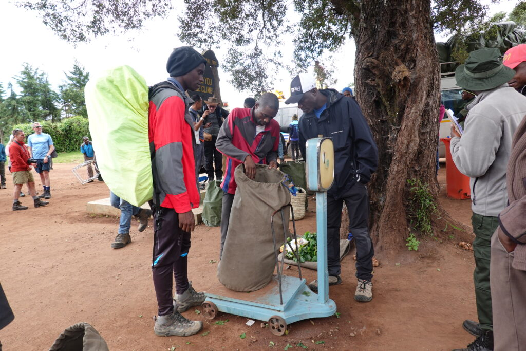 Weighing Bags of Porters
